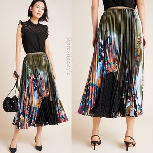 🆕 ANTHROPOLOGIE Lisabetta Pleated Maxi Skirt